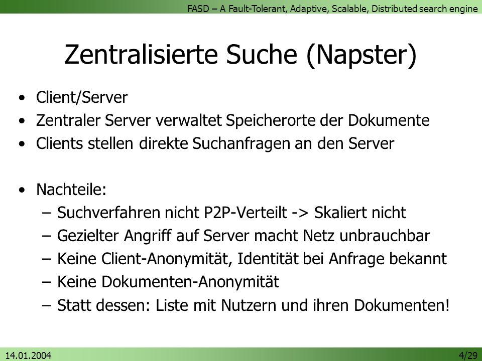 Zentralisierte Suche (Napster)