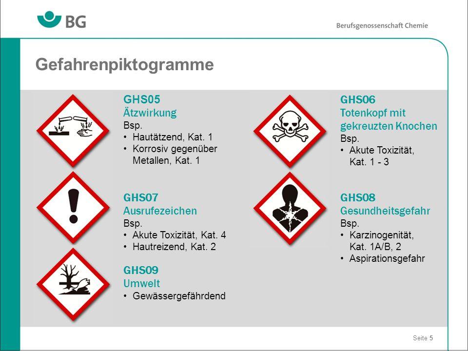 Gefahrenpiktogramme GHS05 Ätzwirkung GHS06 Totenkopf mit