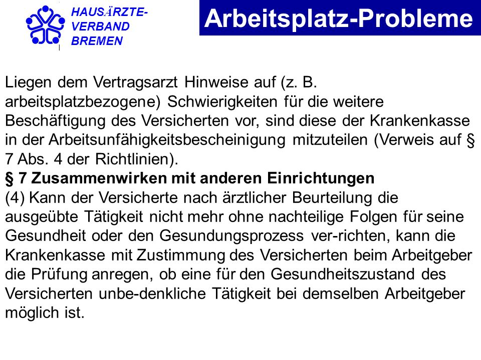 Arbeitsplatz-Probleme