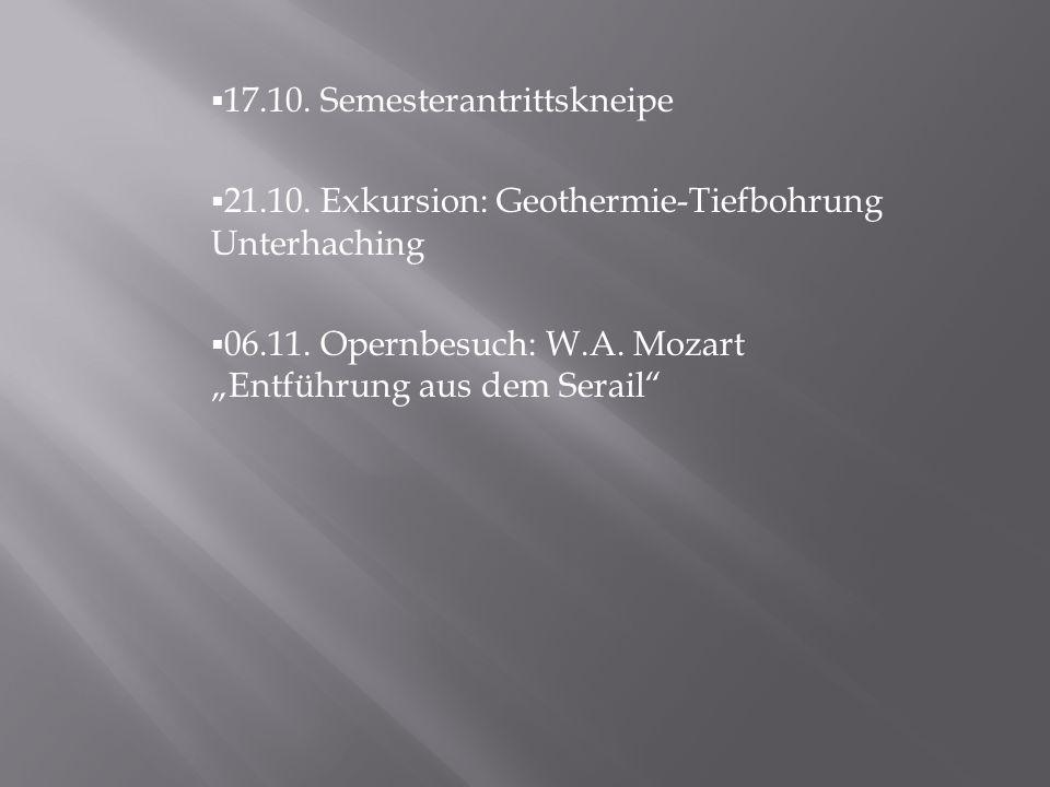17.10. Semesterantrittskneipe