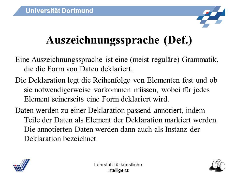 Auszeichnungssprache (Def.)