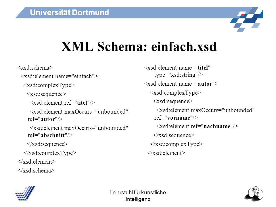 XML Schema: einfach.xsd