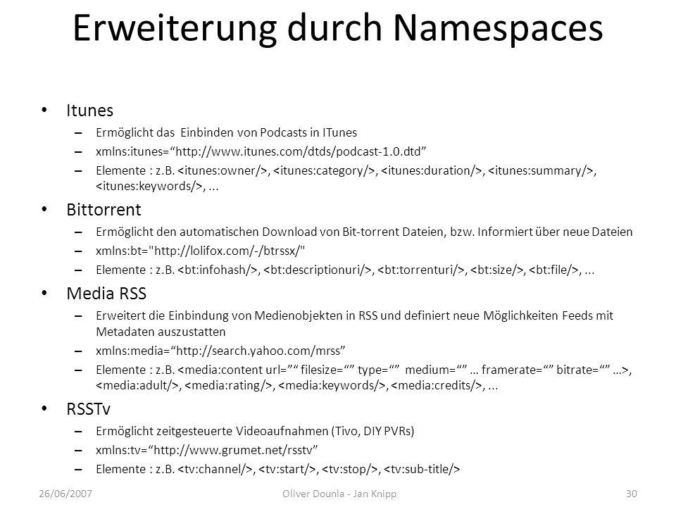 Erweiterung durch Namespaces