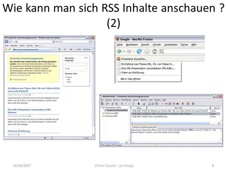 Wie kann man sich RSS Inhalte anschauen (2)