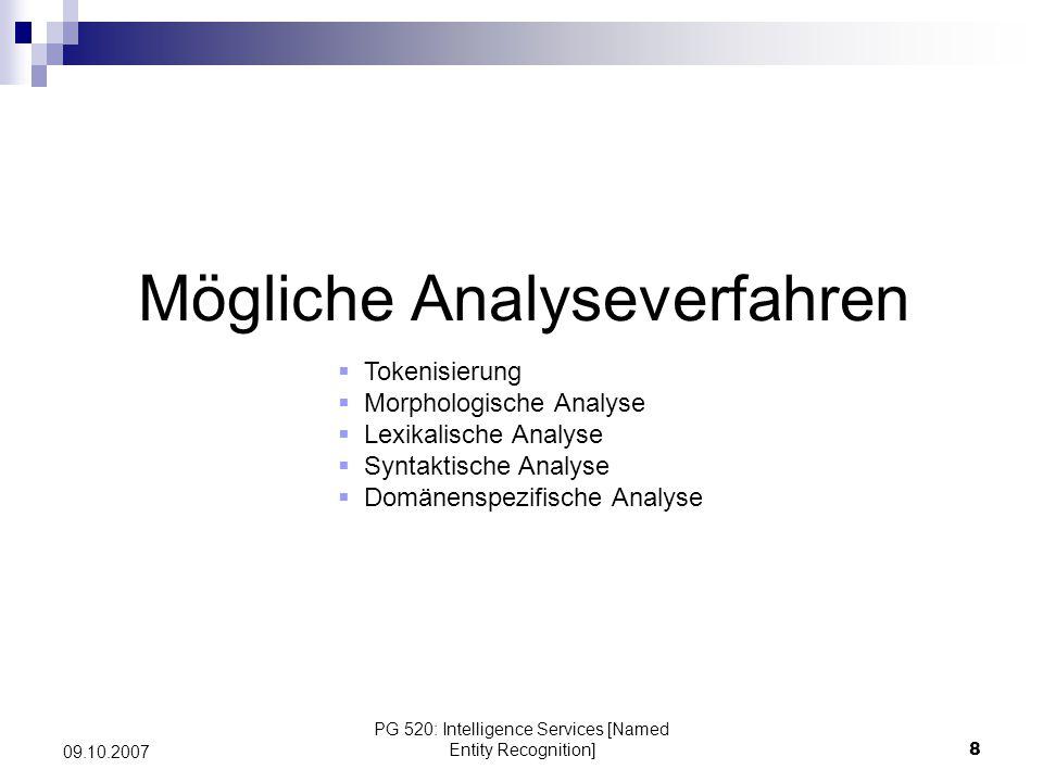 Mögliche Analyseverfahren