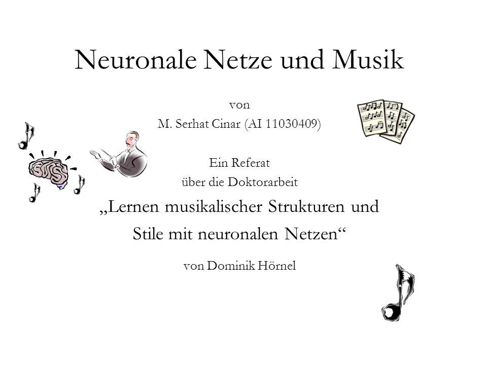 Neuronale Netze und Musik