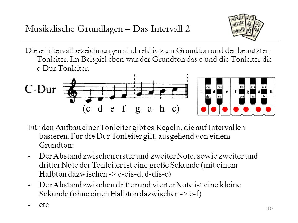 Musikalische Grundlagen – Das Intervall 2