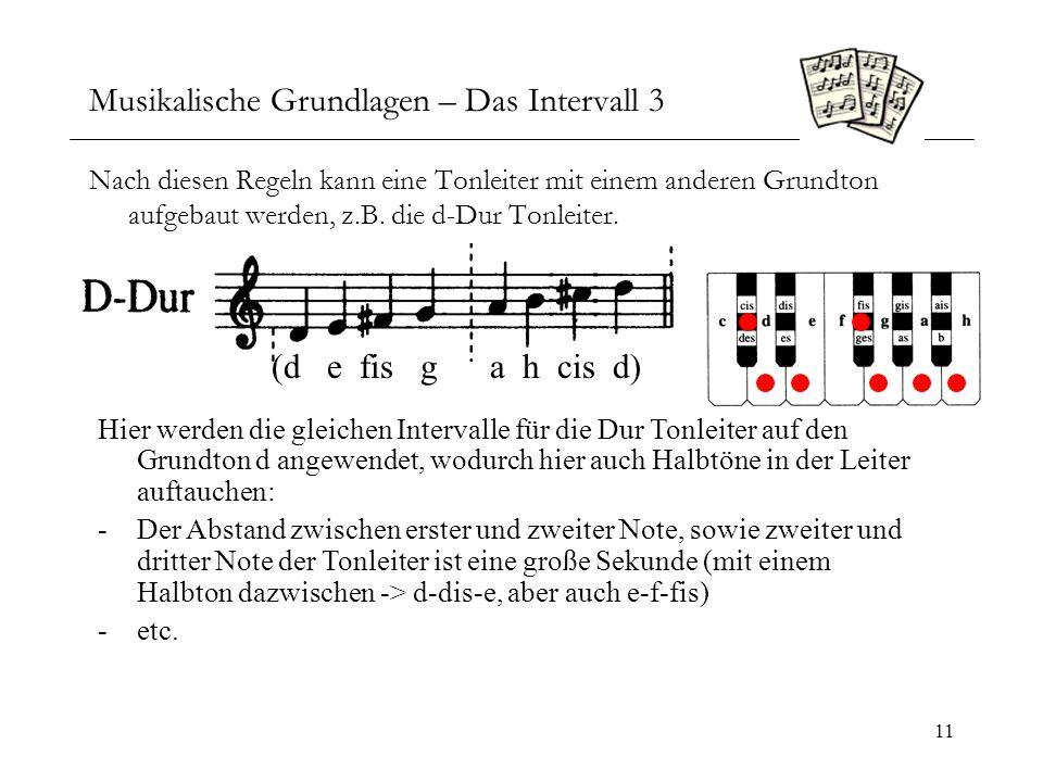 Musikalische Grundlagen – Das Intervall 3