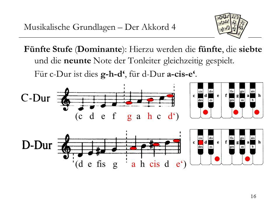 Musikalische Grundlagen – Der Akkord 4