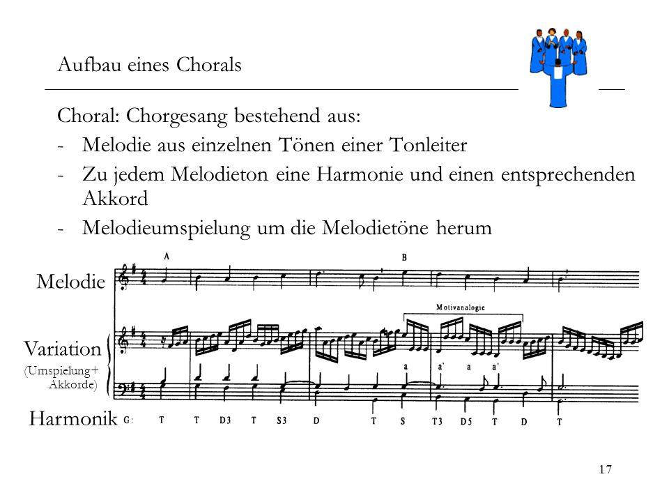 Choral: Chorgesang bestehend aus: