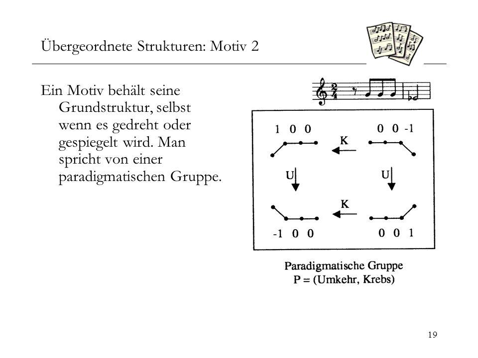 Übergeordnete Strukturen: Motiv 2