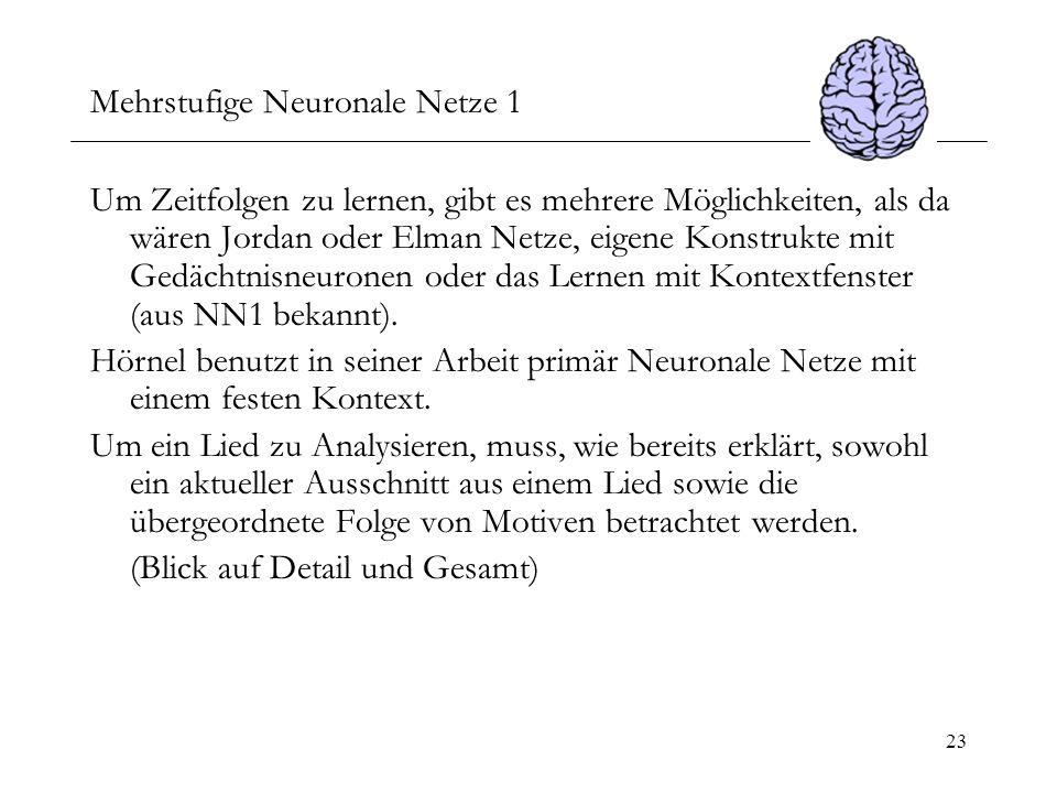 Mehrstufige Neuronale Netze 1