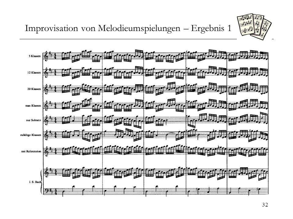 Improvisation von Melodieumspielungen – Ergebnis 1