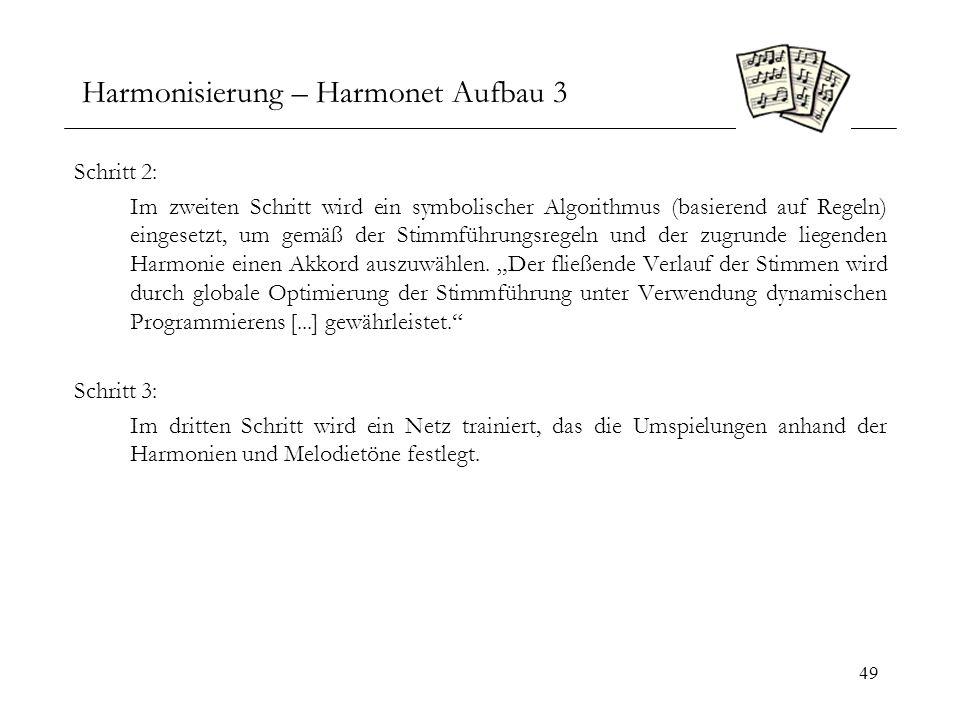 Harmonisierung – Harmonet Aufbau 3