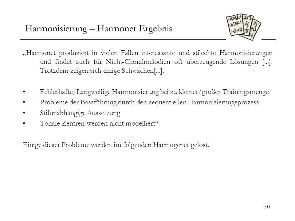 Harmonisierung – Harmonet Ergebnis
