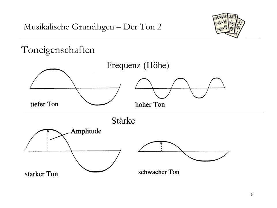 Musikalische Grundlagen – Der Ton 2
