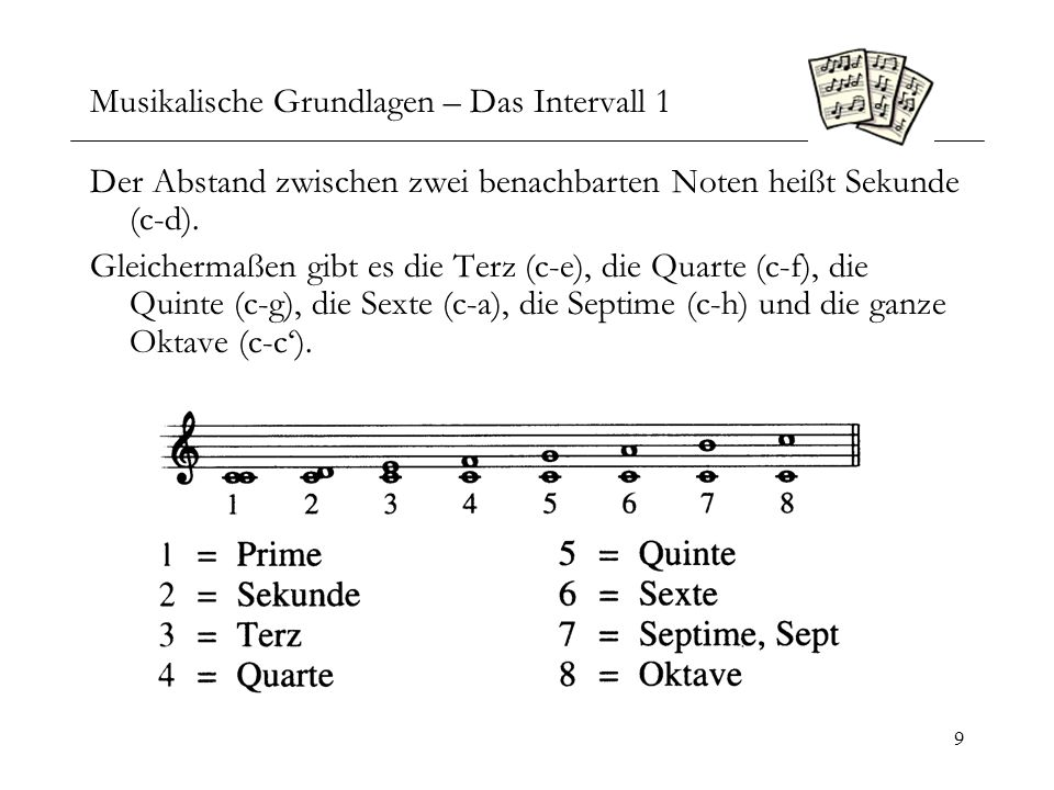 Musikalische Grundlagen – Das Intervall 1