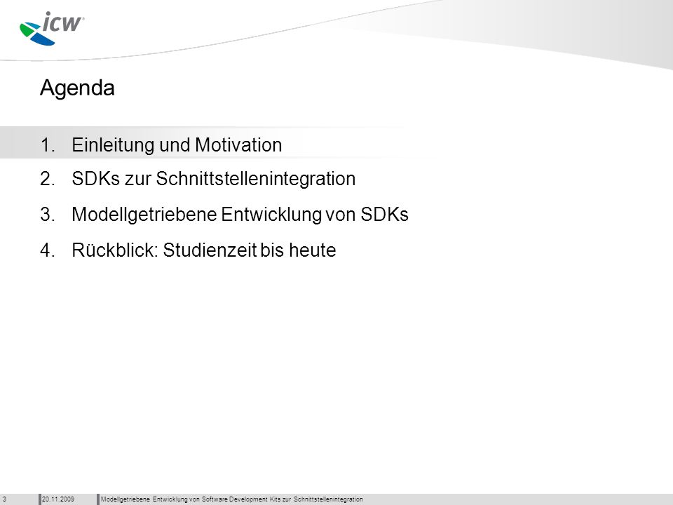 © 2009 ICW AG – GE Partner Enabling - title of training presentation