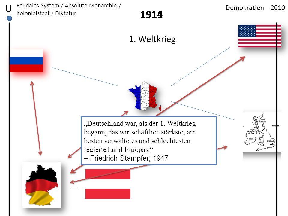 U 1914 1911 1. Weltkrieg Demokratien 2010