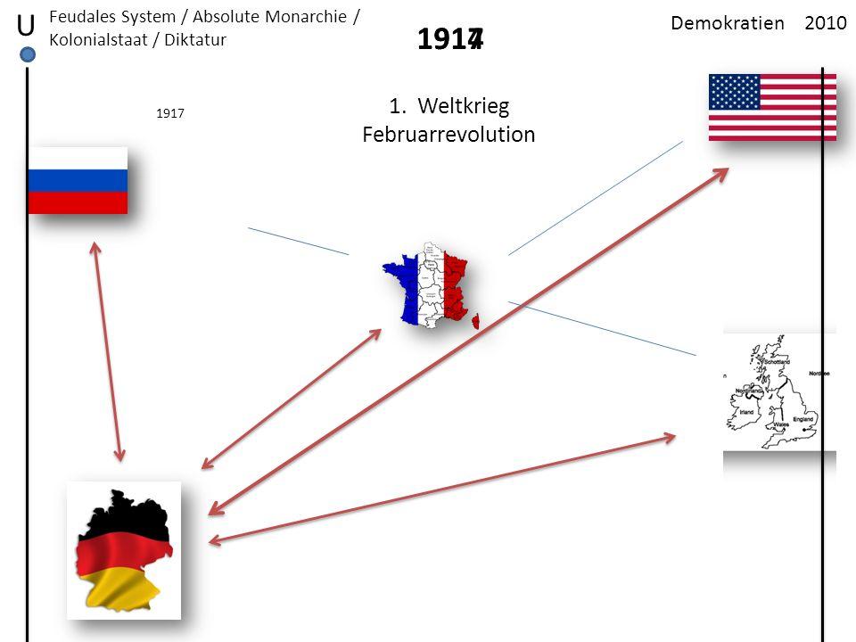 U 1914 1917 1. Weltkrieg Februarrevolution Demokratien 2010