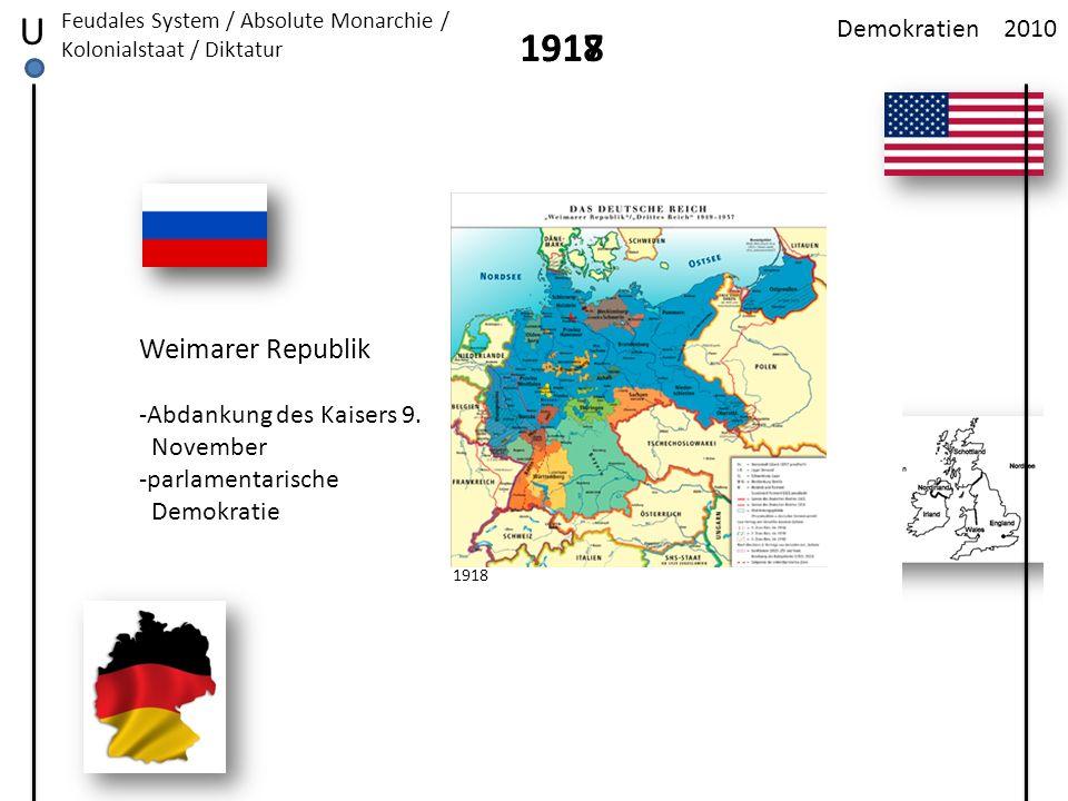 U 1918 1917 Weimarer Republik Demokratien 2010