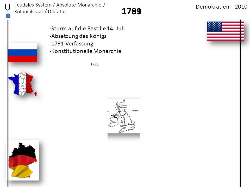 U 1791 1789 Demokratien 2010 -Sturm auf die Bastille 14. Juli