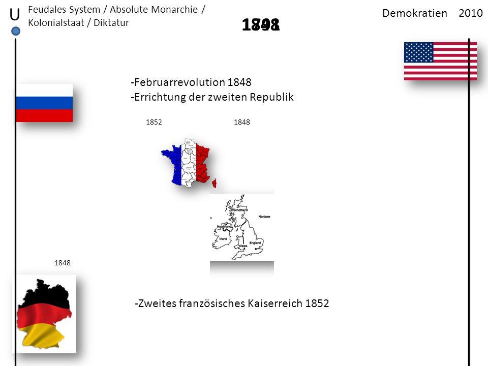 U 1848 1791 Demokratien 2010 -Februarrevolution 1848