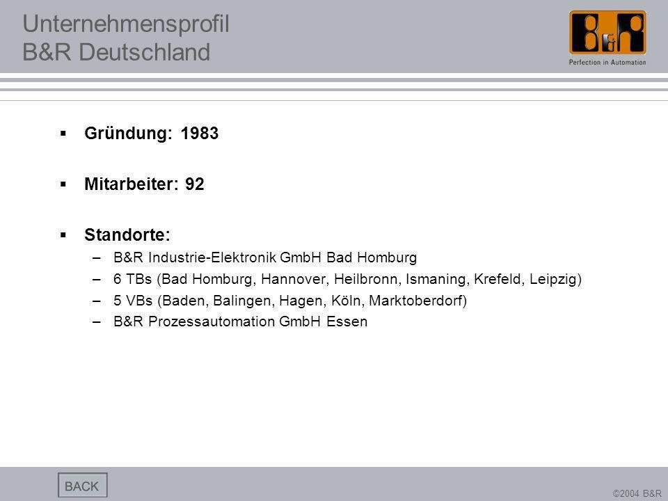 Unternehmensprofil B&R Deutschland