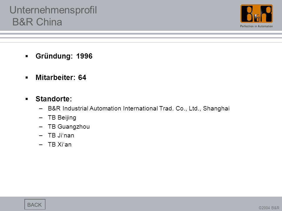 Unternehmensprofil B&R China