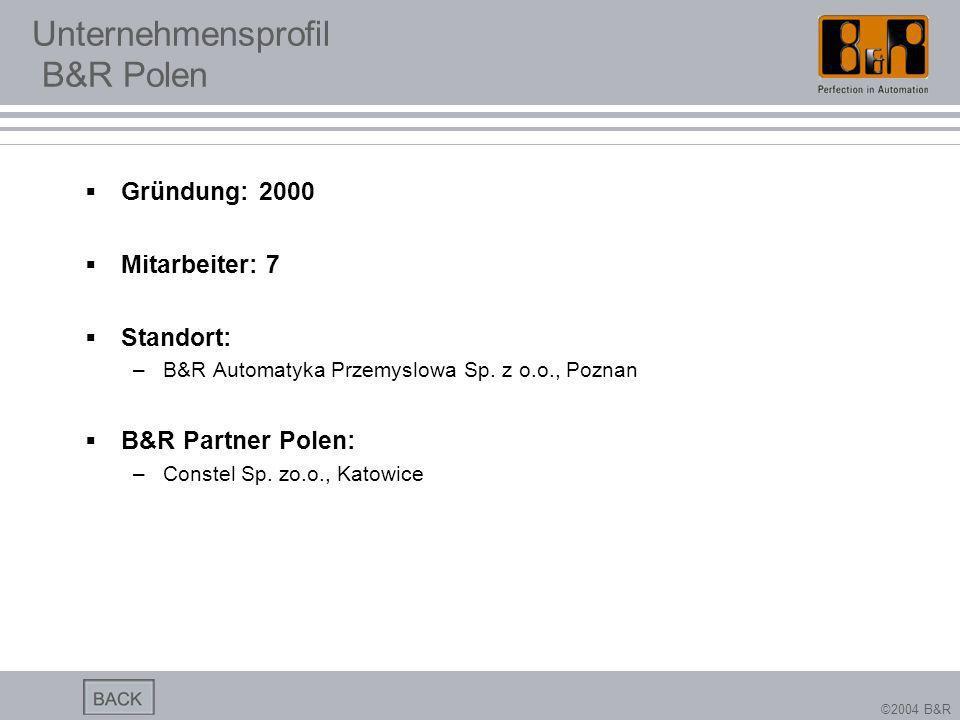 Unternehmensprofil B&R Polen