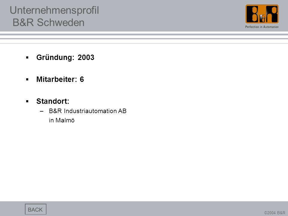 Unternehmensprofil B&R Schweden