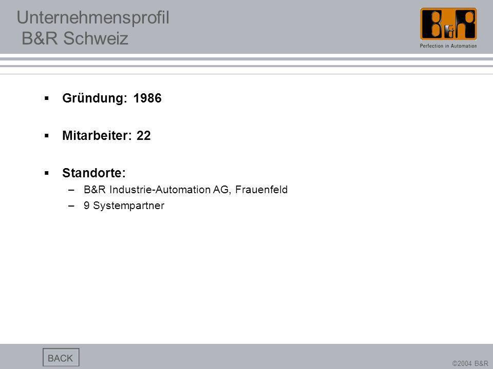 Unternehmensprofil B&R Schweiz