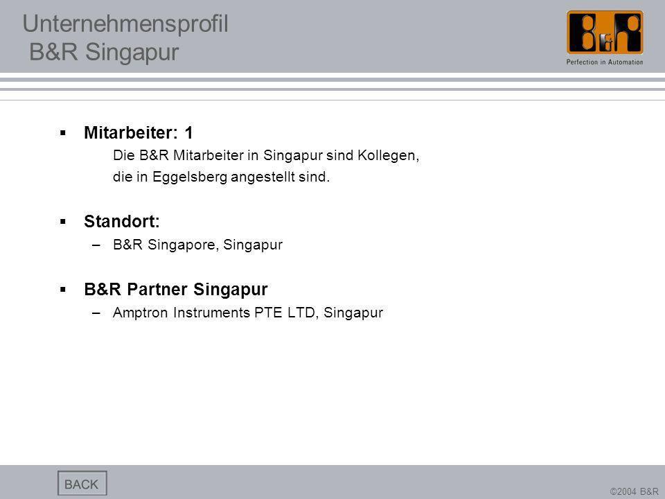 Unternehmensprofil B&R Singapur
