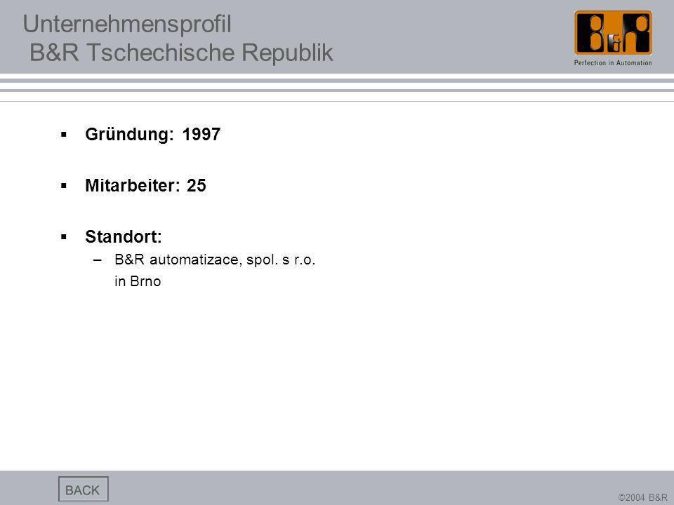 Unternehmensprofil B&R Tschechische Republik