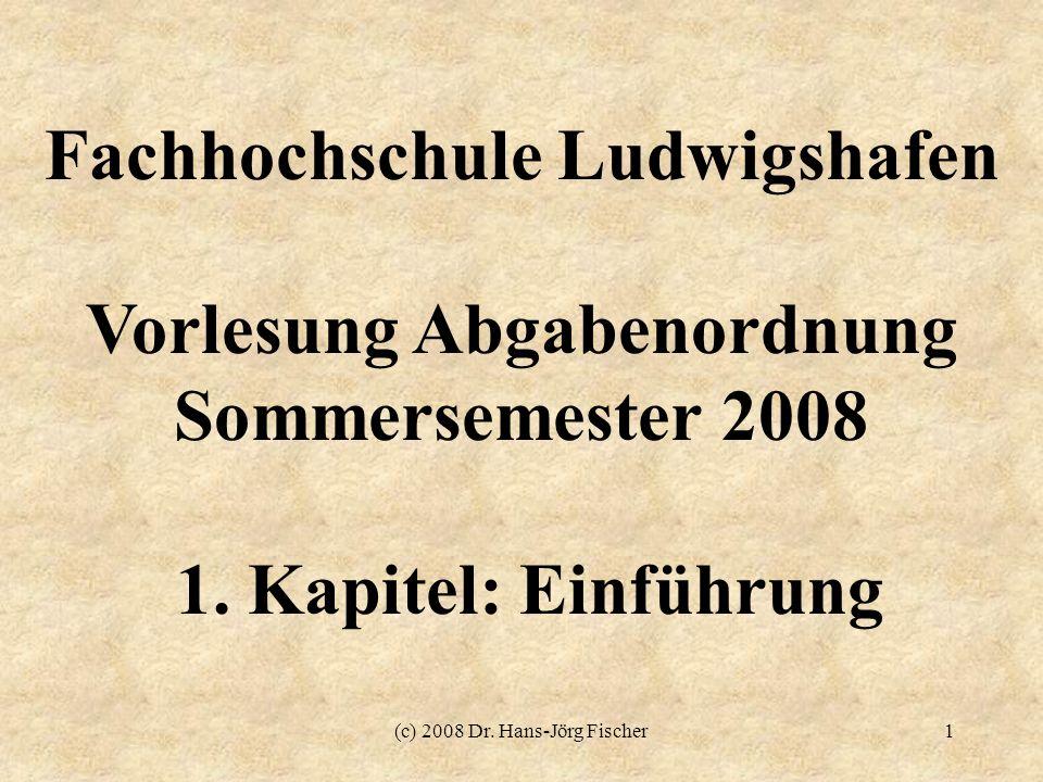 Fachhochschule Ludwigshafen Vorlesung Abgabenordnung