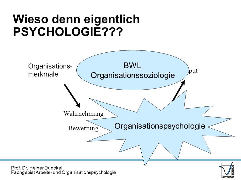 Wieso denn eigentlich PSYCHOLOGIE