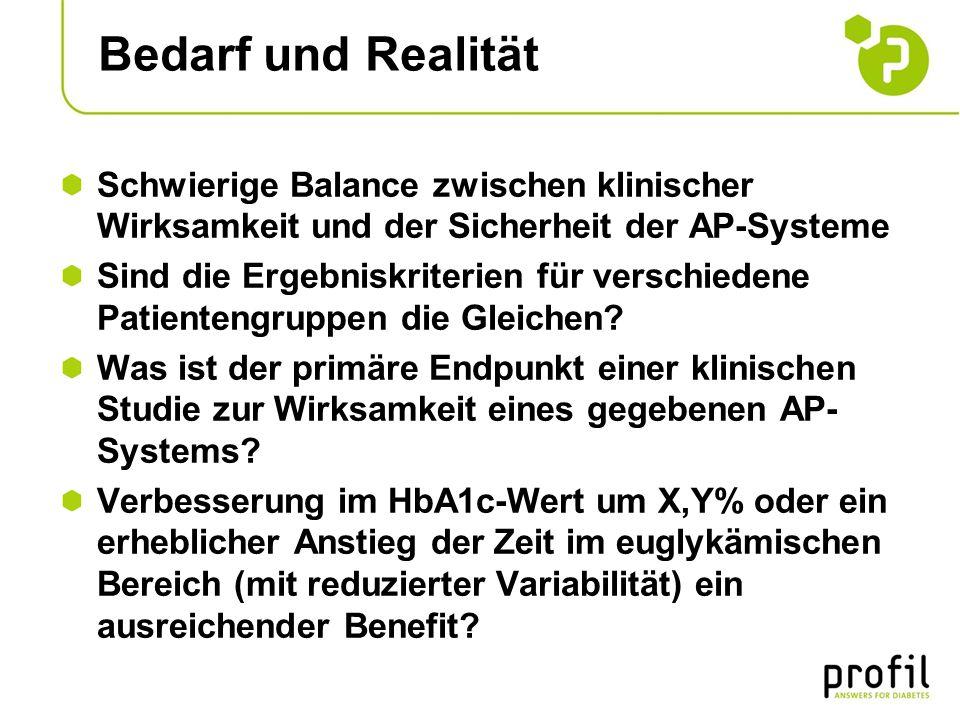 Bedarf und Realität Schwierige Balance zwischen klinischer Wirksamkeit und der Sicherheit der AP-Systeme.