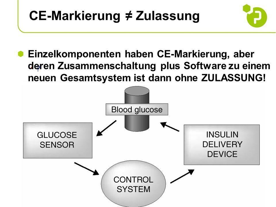 CE-Markierung ≠ Zulassung