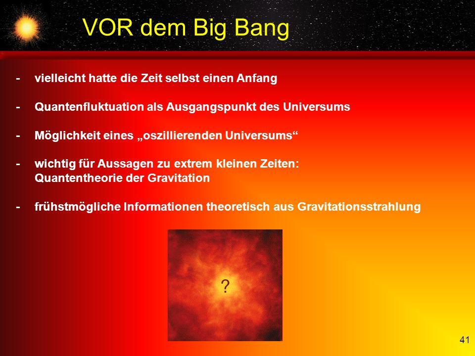 VOR dem Big Bang - vielleicht hatte die Zeit selbst einen Anfang