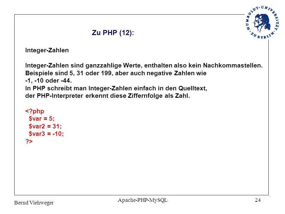 Zu PHP (12): Integer-Zahlen