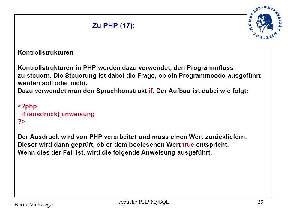 Zu PHP (17): Kontrollstrukturen