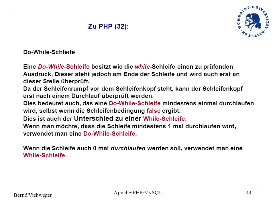 Zu PHP (32): Do-While-Schleife
