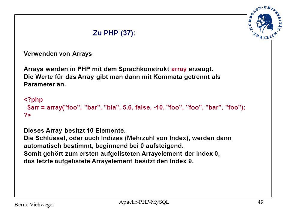 Zu PHP (37): Verwenden von Arrays