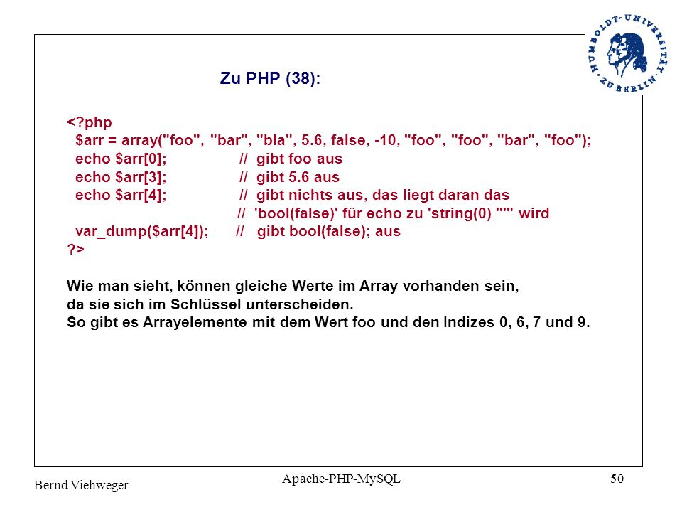 Zu PHP (38):