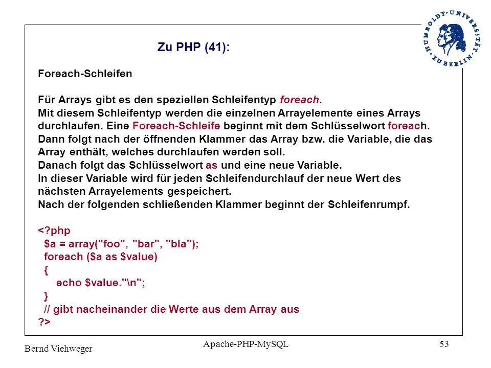 Zu PHP (41): Foreach-Schleifen