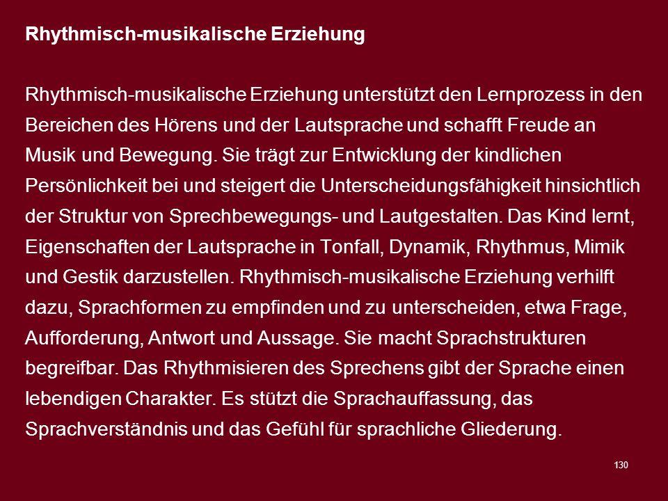 Rhythmisch-musikalische Erziehung