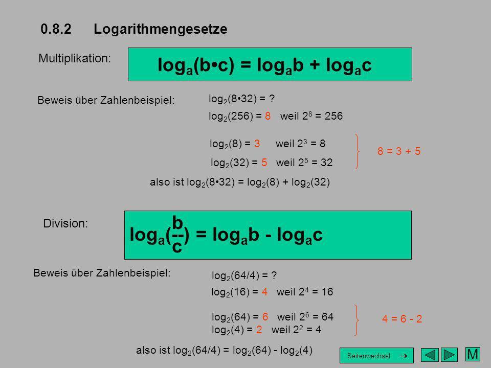 loga(b•c) = logab + logac