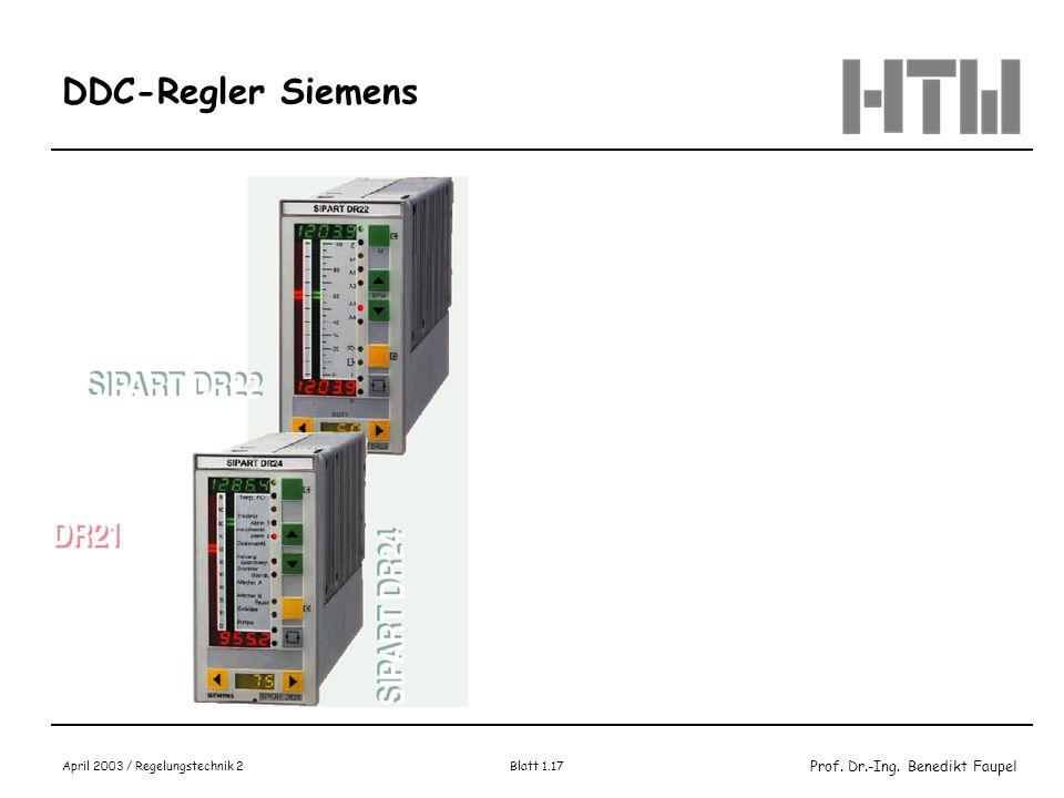 DDC-Regler Siemens April 2003 / Regelungstechnik 2 Blatt 1.17
