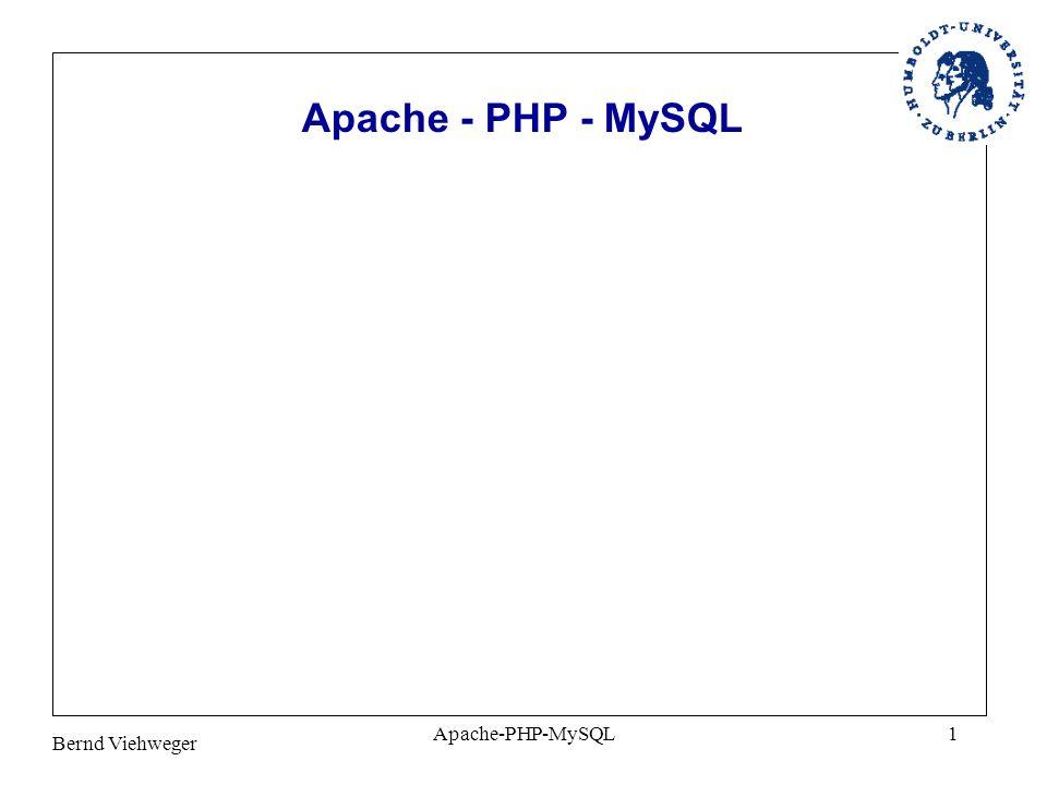 Apache - PHP - MySQL Apache-PHP-MySQL