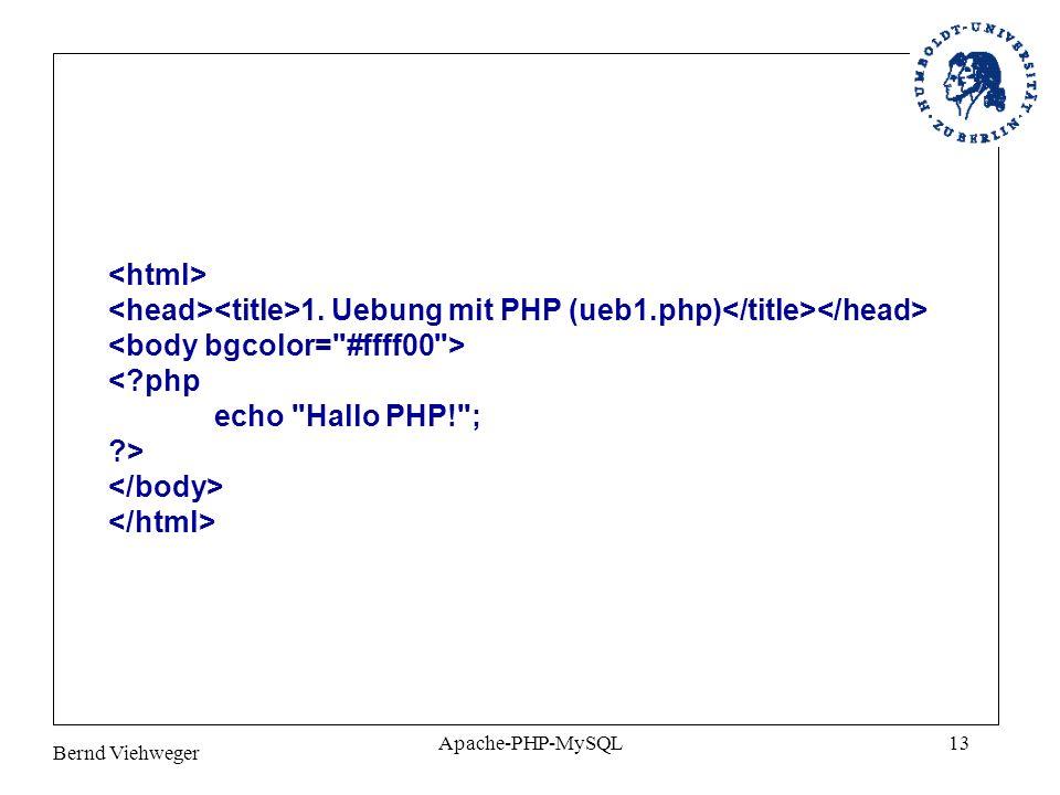 <body bgcolor= #ffff00 > < php echo Hallo PHP! ; >